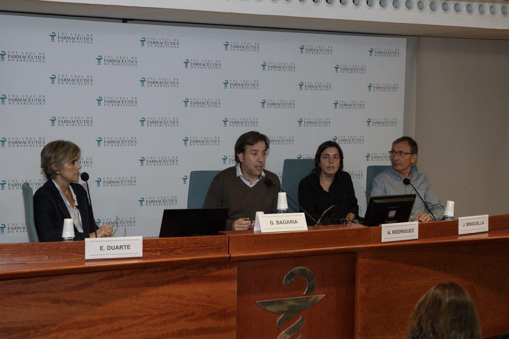 D'esquerra a dreta: Esther Duarte, Guillermo Bagaria, Ana Rodríguez i Jordi Minguella.