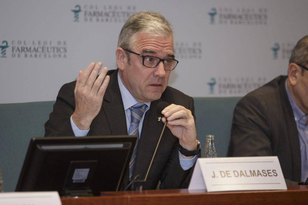 Jordi De Dalmases, president del COFB, durant l'exposició de l'Informe de Presidència el passat 18 de desembre.