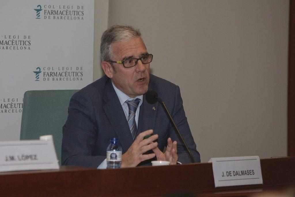 Jordi De Dalmases, president del COFB, en un moment del col·loqui.