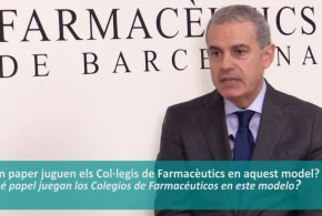 """Iñaki Betolaza: """"Actualment, però sobretot en el futur, els farmacèutics tindran un paper clau"""" (Vídeo entrevista)"""