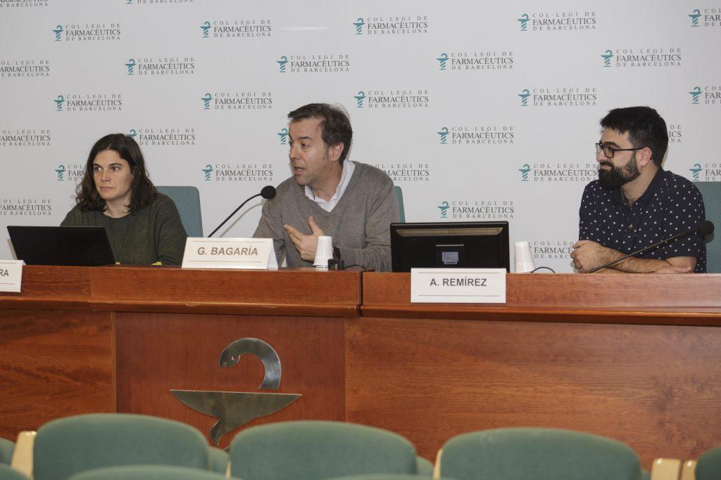 D'esquerra a dreta: Mireia Ventura, Guillermo Bagaria i Aitor Remírez.