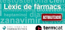 Nova actualització del Lèxic de fàrmacs en línia del COFB i del TERMCAT