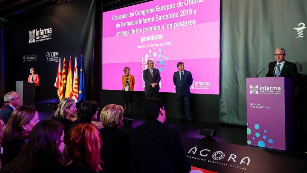 El president del COFB, Jordi de Dalmases, en un moment de la clausura d'Infarma 2019.