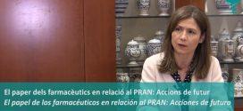 """María Jesús Lamas, directora de l'AEMPS: """"Treballarem amb els farmacèutics per augmentar la seva capacitació en la lluita contra les resistències als antibiòtics"""" (Vídeo entrevista)"""