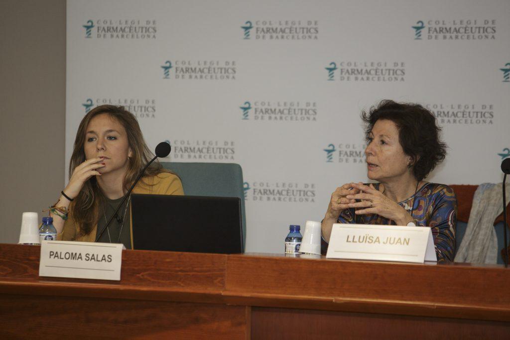 Paloma Salas i Lluïsa Juan, al començament de la formació.