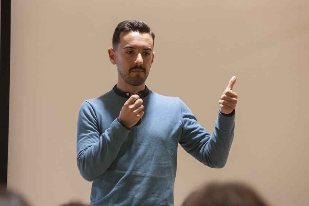 Alfredo Fdez. Quevedo, en un moment de la formació.