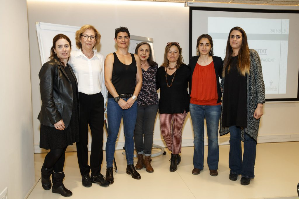 D'esquerra a dreta: Anna Bach-Faig, Marta Castells, Mar Blanco, M. José Alonso, Montse Iracheta, Anna Ramírez i Eva Hortas.
