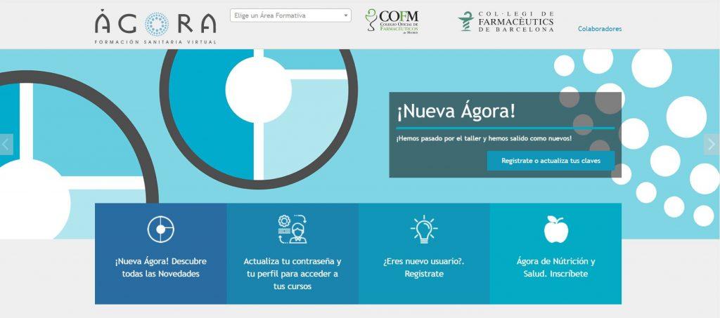 Imatge de la nova web d'Àgora Sanitària.