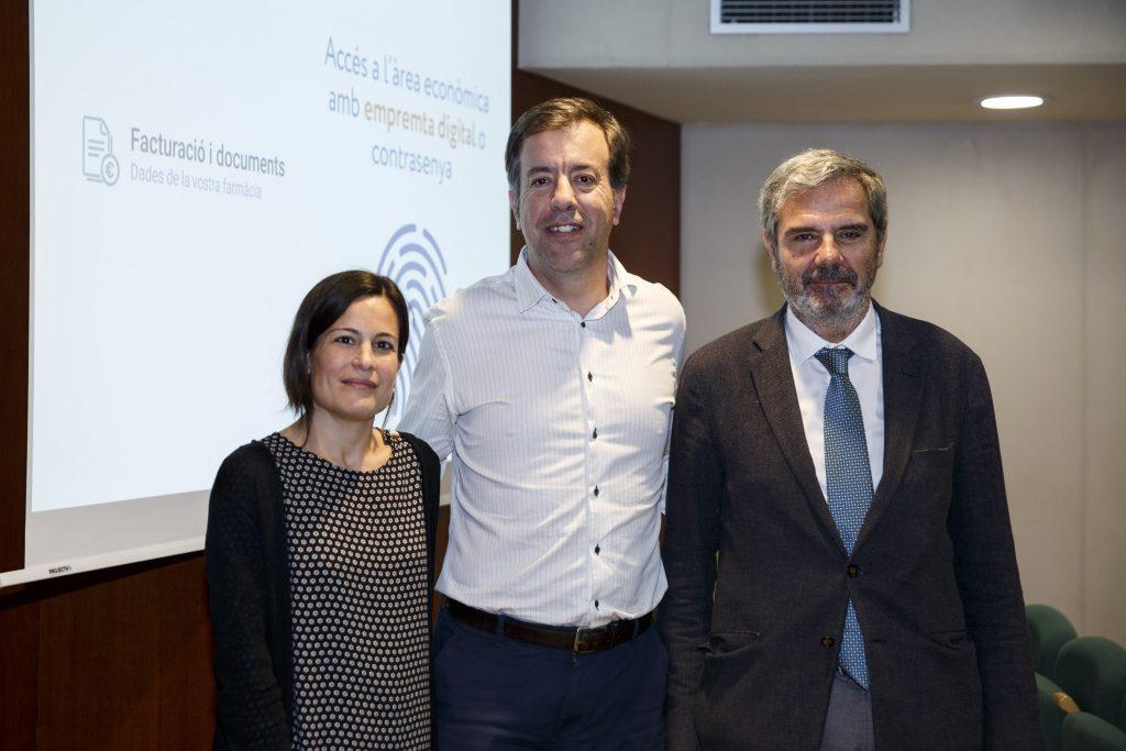 D'esquerra a dreta: Maria Perelló, Guillermo Bagaría i Manel Mas-Bagà.
