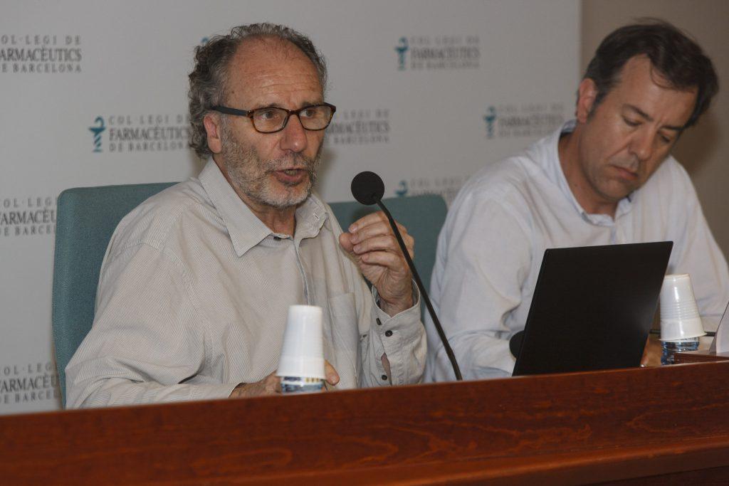 El Dr. Guarner acompanyat de Guillermo Bagaría.