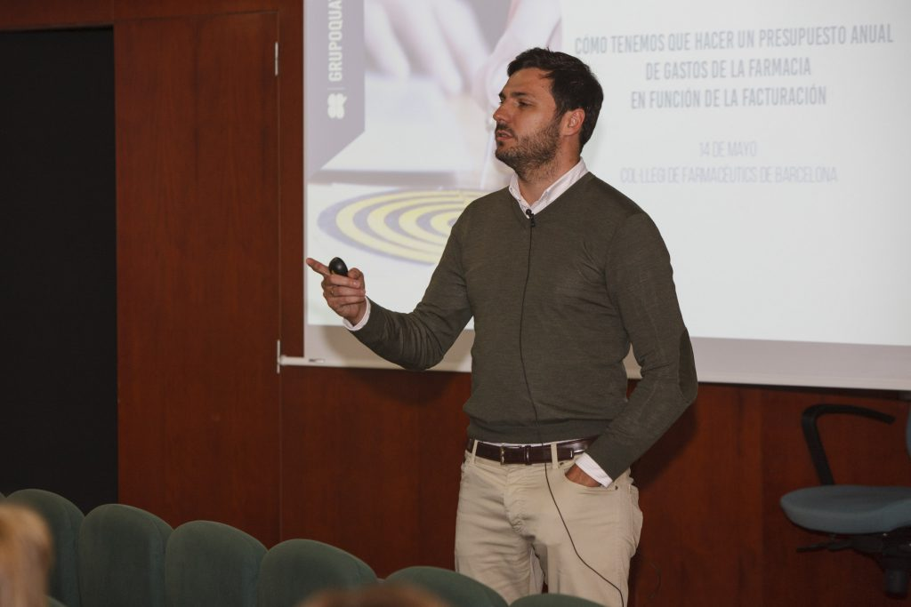 Javier Roig,director d'ART Pharmaceuticals Business Strategies, durant la seva exposició.