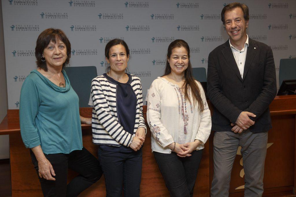 D'esquerra a dreta, els ponents de la sessió: Mercè Barau, Maria Perelló, la Dra. Marcela Fu i Guillermo Bagaria.