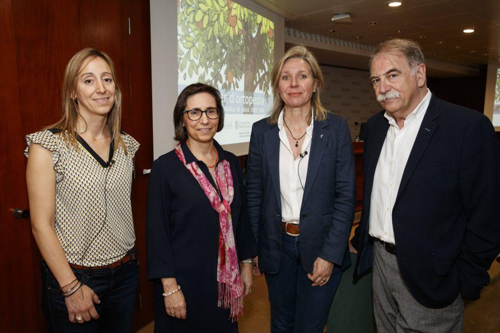 D'esquerra a dreta: Cristina Bertrán, Concepció Amat, Montserrat Gironès i Carles Berga.