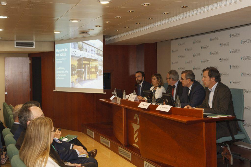 La Junta General Ordinària es va celebrar el passat 13 de juny a la Sala d'Actes del Col·legi de Farmacèutics de Barcelona.