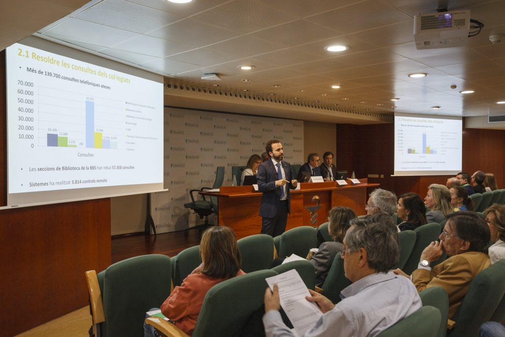 Jordi Casas, secretari del COFB, en un moment de la seva presentació de l'informe de Secretaría.