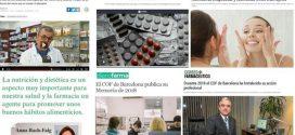 Agost: desabastiment de medicaments, publicació de la Memòria 2018 del COFB i el consell alimentari a la farmàcia, temes més destacats als mitjans