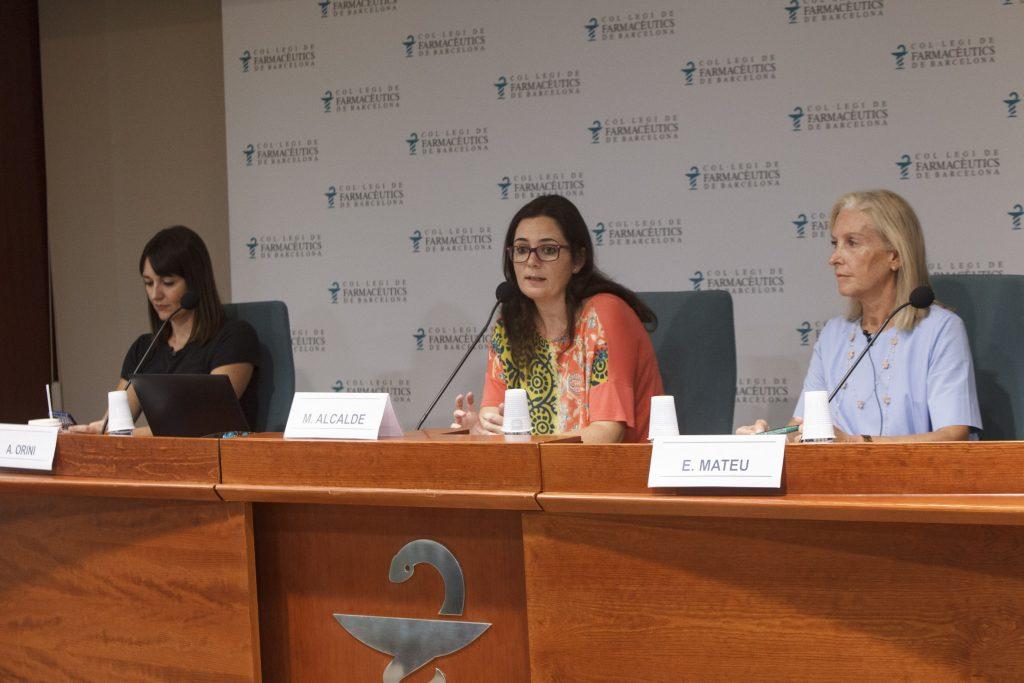 D'esquerra a dreta: Ambra Orini, Marta Alcalde i Eulàlia Mateu.