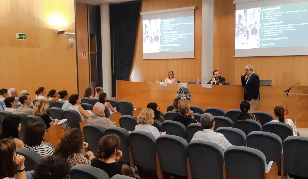 El president del COFB, Jordi de Dalmases, en un moment de la seva presentació a Terrassa.