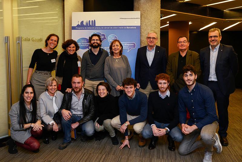 Membres del Col·legi de Farmacèutics de Barcelona implicats en el programa. Font imatge: Hospital Clínic de Barcelona