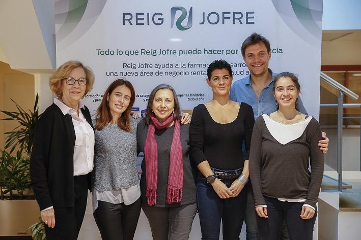 D'esquerra a dreta: Marta Castells, Anna Bach-Faig, Mª José Alonso, Mar Blanco, Eloi Merencio i Anna Ramírez.