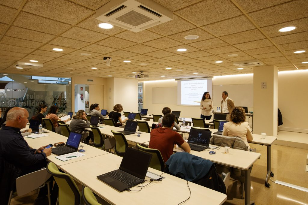 Durant la formació, es van tractar les bases conceptuals de les anàlisis de decisió multicriteri.