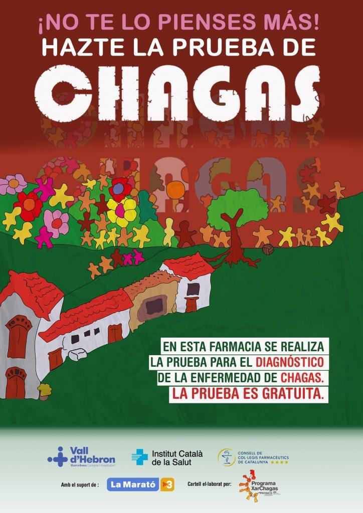 Pòster que publicita la campanya de detecció precoç del Chagas