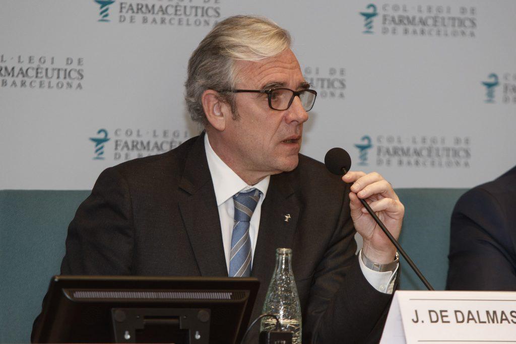 Jordi De Dalmases, president del COFB, durant l'exposició de l'Informe de Presidència el passat 10 de gener.
