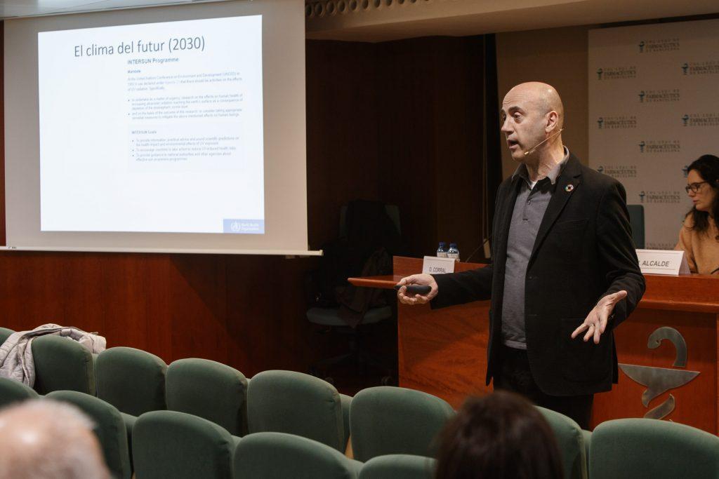 El meteoròleg Tomàs Molina, en un moment de la seva intervenció.