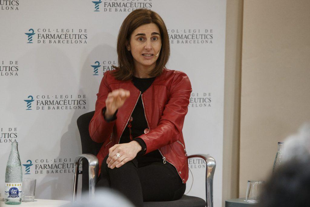 La farmacèutica Rocío López-Ybarra, titular de la farmàcia Guarc.