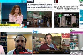 Març: el paper dels farmacèutics enfront de la crisi de la COVID-19 i les reaccions en defensa de la condició sanitària de la nostra professió, temes més destacats als mitjans