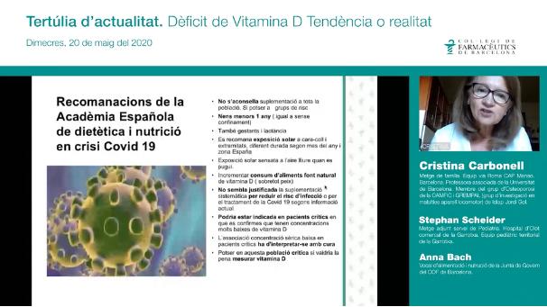 Moment de la presentació de la Dra. Cristina Carbonell.