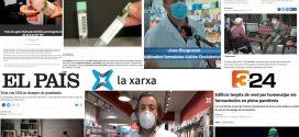 Agost i setembre: el Dia Mundial del Farmacèutic, els tests d'antígens a la farmàcia i el projecte pilot de Terrassa contra la COVID-19, temes més destacats als mitjans