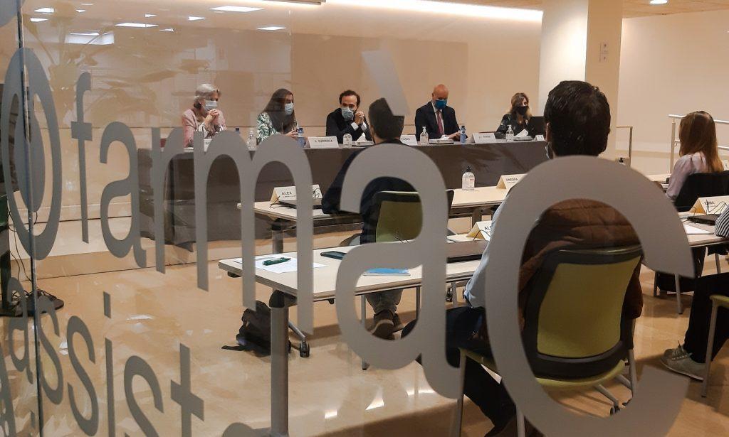 Un moment de la inauguració de la XVI edició del Màster de Gestió de l'Oficina de Farmàcia (MGOF)