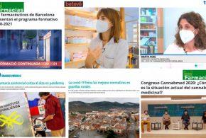 Octubre: els tests COVID-19, el congrés Cannabmed i el programa de formació continuada 2020-21 del COFB, temes més destacats als mitjans