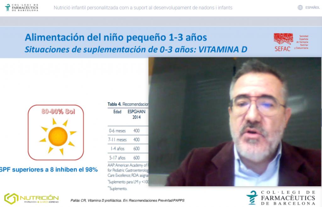 """Intervenció del farmacèutic Luis García Moreno en el marc de la conferència """"Nutrició infantil personalitzada com a suport al desenvolupament de nadons i infants"""""""
