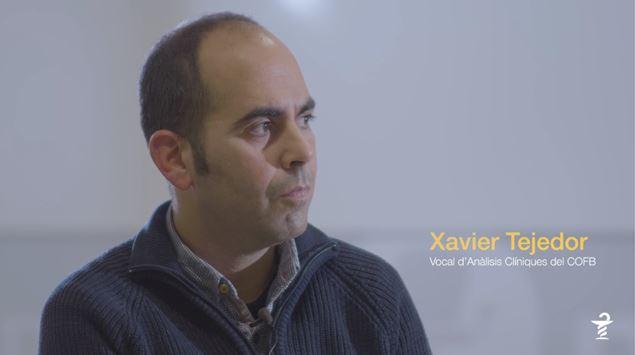 Xavier Tejedor, vocal d'Anàlisis del Col·legi de Farmacèutics de Barcelona.
