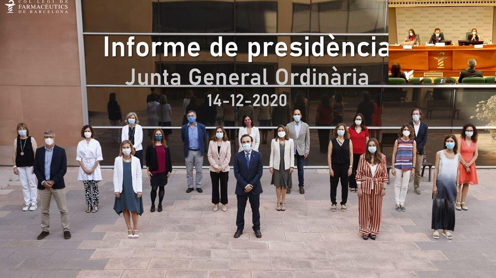 La Junta General Ordinària també va poder ser seguida vía webinar.