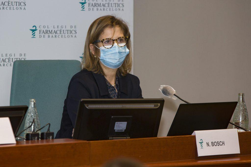 La vicepresidenta del COFB, Núria Bosch, durant la seva intervenció.