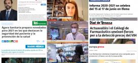 Desembre: El programa pilot de cribratge amb PCR d'automostra, els tests COVID-19 i la campanya sobre bon ús de mascaretes, temes més destacats als mitjans