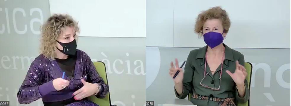 Anna Bonet, cap de la Unitat de Farmàcia de l'ICS a la Catalunya Central, i Lluïsa Juan, cap del laboratori clínic de l'hospital Sant Joan de Déu a Martorell.