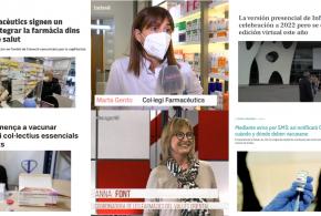 Febrer: El conveni entre el CCFC i el CatSalut, la vacunació dels farmacèutics i el posicionament sobre els tests d'antígens, temes més destacats als mitjans