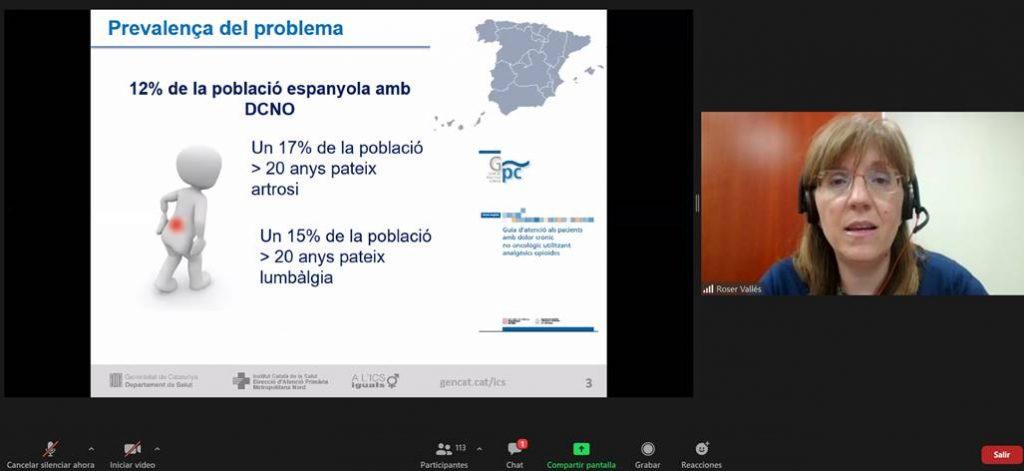 Roser Vallès, vocal d'Atenció Primària del COFB, en un moment de la seva intervenció.
