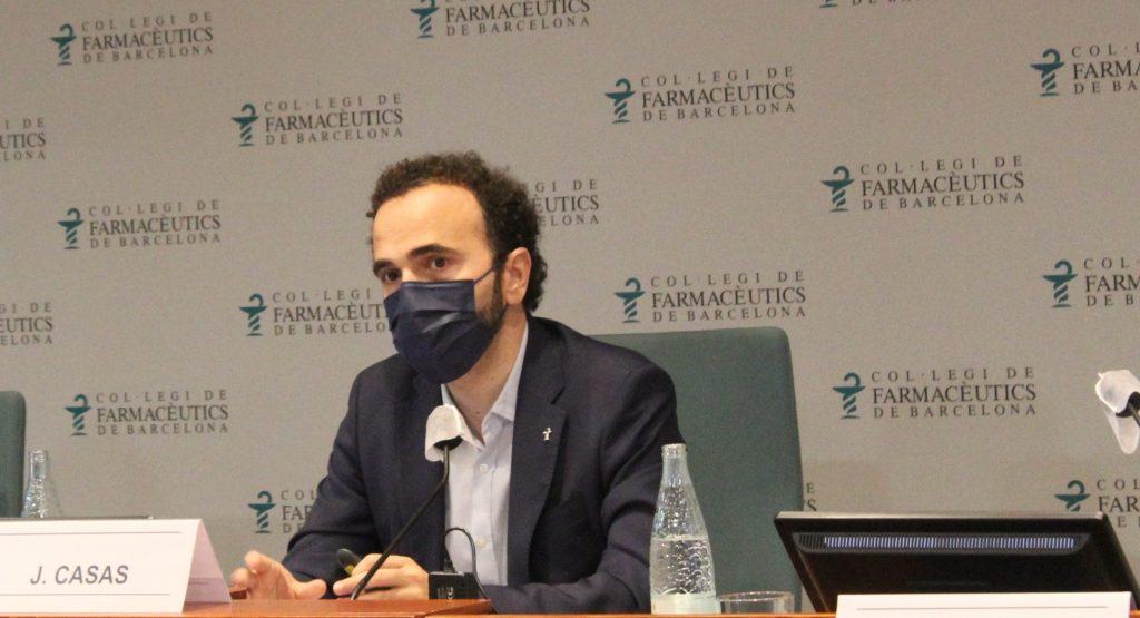 El president del COFB, Jordi Casas, en un moment de la seva intervenció.