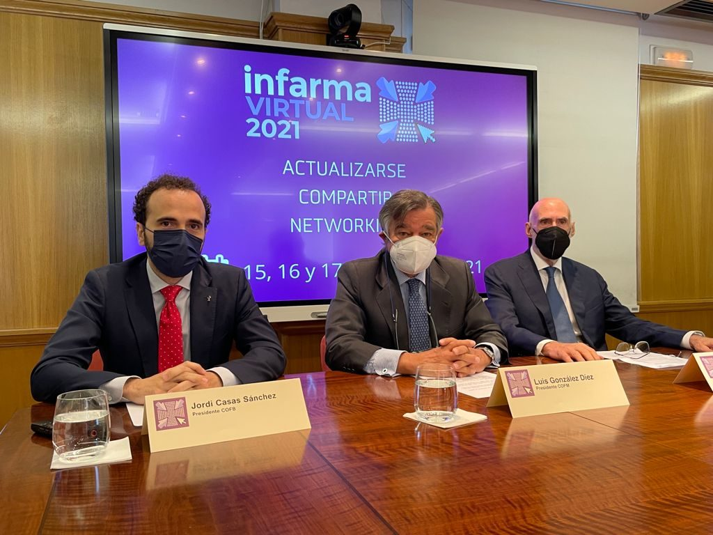 D'esquerra a dreta: Jordi Casas, president del COFB; Luis González, president del COFM i Jorge Arqué, president d'Interalia.