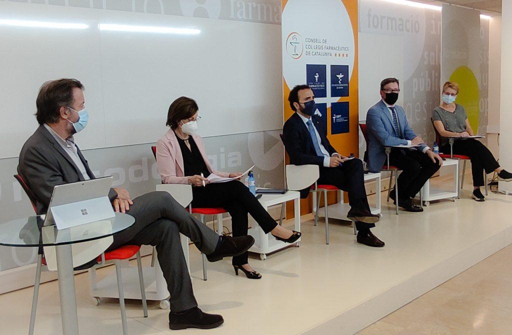 Un moment de la presentació de Farmaserveis, que s'estén a tot Catalunya.