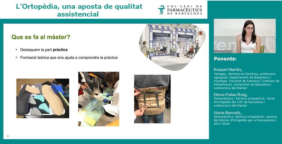 La farmacèutica i tècnica ortopèdica Núria Barceló en un moment de la seva intervenció.