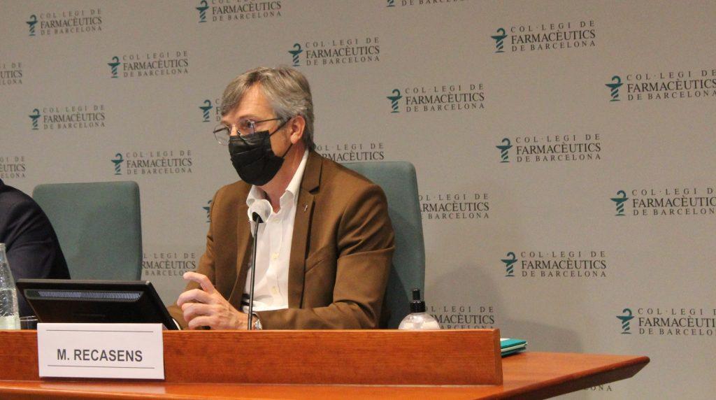 Miquel Recasens, mentre presentava l'Informe de Tresoreria del COFB.