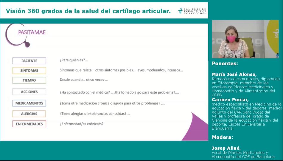 María José Alonso,farmacèutica comunitària, membre de les vocalies de Plantes Medicinals i Homeopatia i d'Alimentació del COFB.