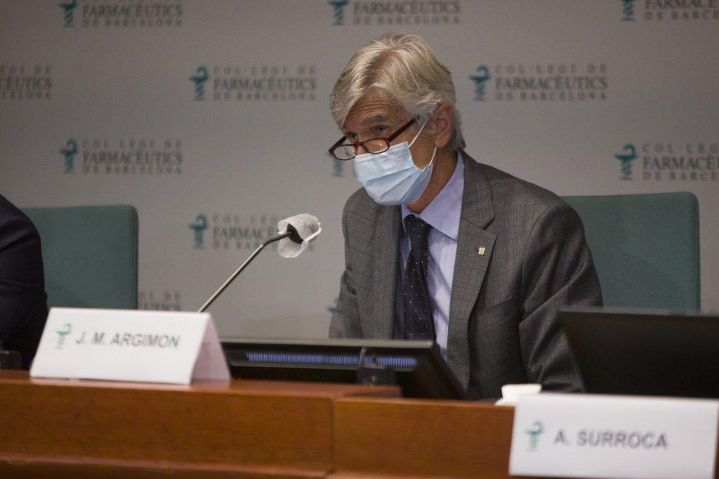 El conseller de Salut, Josep Maria Argimon, durant un moment de la seva intervenció.