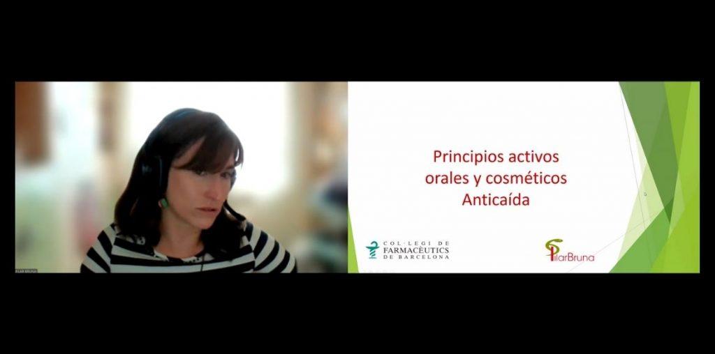 La farmacèutica Pilar Bruna en un moment de la segona sessió de la formació.